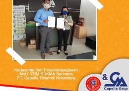 Kerjasama dan Penandatanganan MoU STIM Sukma bersama PT. Capella Dinamik Nusantara